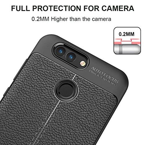 Coque Huawei nova 2, MSVII® Anti-Shock Silicone TPU Souple Coque Etui Housse Case et Protecteur écran Pour Huawei nova 2 - Rouge / RED JY90062 Noir
