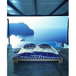 Bassetti Satin OPLONTIS V9 135x200 Bettwäsche Blau 200x135x0.5 cm