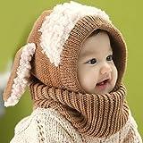 Swallowuk Winter Baby Kinder Jungen Mädchen Schal Kapuze Hüte Caps (khaki)