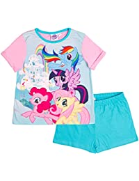 Girls My Little Pony Pyjamas Short 2 Piece Pjs Childrens Pyjama Set Kids Size 3-10 Years