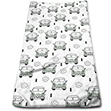 Cool Vintage Happy Camper Hippie Bus Kitchen Towels - Dish Cloth - Machine Washable Cotton Kitchen Dishcloths,Dish Towel & Tea Towels for Drying,Cleaning,Cooking,Baking (12 X 27.5 Inch)