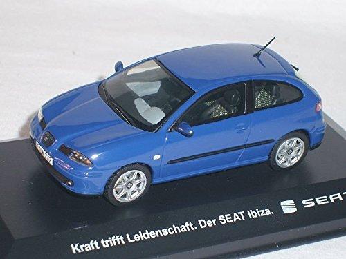 Preisvergleich Produktbild Seat ibiza 2002-2008 Blau 3 TÜrer 6l 1/43 Modell Auto Modellauto