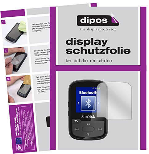 dipos I 2x Screen Protector for SanDisk Clip Sport Plus Protection Films clear