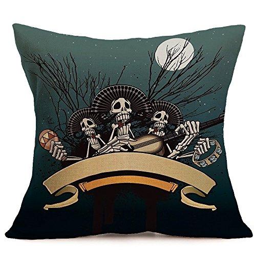VEMOW Happy Halloween Kissenbezüge Leinen Sofa Kissenbezug Home Decor Party Dekoration 18