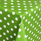 Tischdecke Wachstuch Gartentischdecke rund eckig oval in verschiedenen Größen Meterware Wachstischdecke Punkte grün
