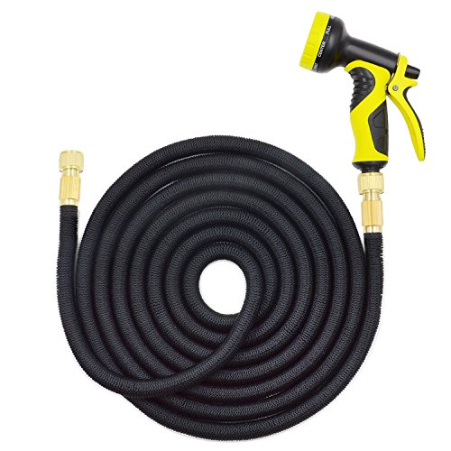 50 Feet Expandable Garden Hose with 12 Inch 34 Inch Faucet