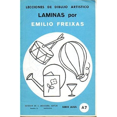 LECCIONES DE DIBUJO ARTÍSTICO. Láminas, por... Serie Azul. A-7. OBJETOS VARIOS.
