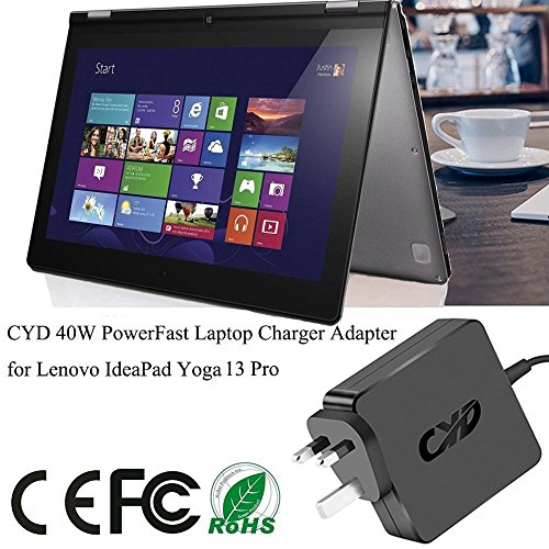 CYD 45W Laptop-Charger for Lenovo Yoga 13 Flex PA-1650-72FN V1Q9 Ideapad G50-70 E450 E531 G500 G505 G510 G410 L440 L450 L540 T431s T440 T450 T540 T550 X240 X250 S431; IdeaPad S210 S500 S510p U330 U430