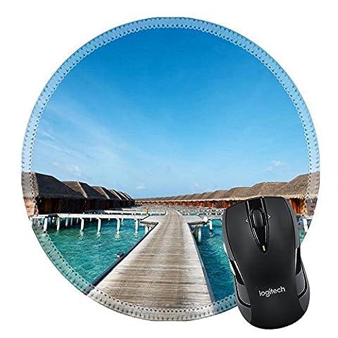 MSD en caoutchouc naturel Tapis de souris Image ID 35406816Magnifique Plage avec de l'eau bungalows Maison à Maldives 3754