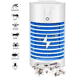 Lampe Anti Moustique Électrique UV Tueur de Moustique Tueur D'insectes Mouches Piège, WADEO Destructeur de Moustique Interieur Électronique Insecte Lampe, Anti Moustiques Anti Insectes, sans-Radiation