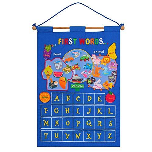 Lehre kalender spielzeug pädagogisches kindergarten kleinkind lehrmittel tuch lernen englisch brief wetter datum saison kalender wetter taschenkarte hängen tasche -