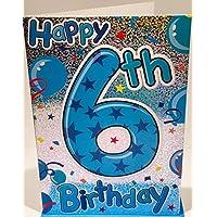 Happy 6th Birthday Card For A Boy - 7.5 x 5.25 Inches