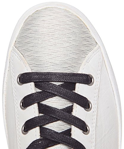 Crime London Da Donna Low Top Trainers Bianco Bianco