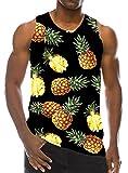 Goodstoworld T Shirt Running Uomo Animal Gilet Sportive Senza Maniche Fitness Colorate Tank Top T Shirt per Uomo