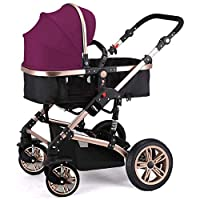 Heay Umbrella Stroller,Infant Baby Stroller For Newborn And Toddler, Convertible Jogging With 5-Point Harness,Compact Single Baby Carriage, Lightweight Toddler Pushchair