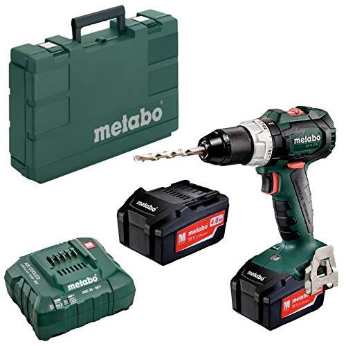 Metabo Akku-Bohrschrauber BS 18 LT BL (602325500) inkl. 18V 2X4AH LI-ION; Ladegerät ASC 30-36 V; Kunststoffkoffer