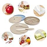 Baban 7tlg Keramikmesser Set für Schneiden Obst Gemüse Fleisch