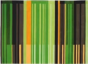 Arte Espina - Tapis design Digital Line Colour Codes vert orange - 140x200cm