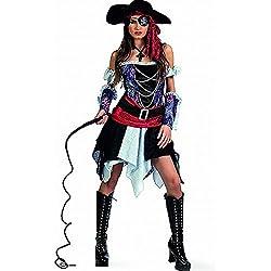 Limit Sport Disfraz de pirata corsaria para adultos, talla L (MA227)