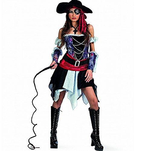 Piratessa corsara - costume da donna per feste in maschera - eventi larp - abito sexy - m