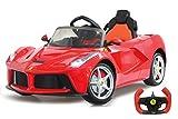 Jamara 460219 - Ride-on Ferrari LaFerrari 2,4G 6V - Leistungsstarker Antriebsmotor und Akku, 2-Gang-Automatik, Ultra-Gripp Gummiring, Flügeltüren, Bremse, Licht,Blinker,Anschluss externer Audioquellen