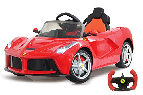 ferrari kinderauto Jamara 460219 - Ride-on Ferrari LaFerrari 2,4G 6V - Leistungsstarker Antriebsmotor und Akku, 2-Gang-Automatik, Ultra-Gripp Gummiring, Flügeltüren, Bremse, Licht,Blinker,Anschluss externer Audioquellen