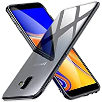 Peakally Funda Samsung Galaxy J6 Plus, Transparente Silicona Funda para Samsung Galaxy J6 Plus Carcasa
