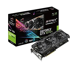 ASUS 90YV0BI0-M0NA00 ROG Strix GeForce GTX 1070 Ti Advanced, A8G-Gaming, 8GB GDDR5, DVI, 2X HDMI, 2X DP Schwarz