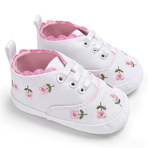 Zapatos de bebé, recién Nacidos niñas Cuna Floral Zapatos...