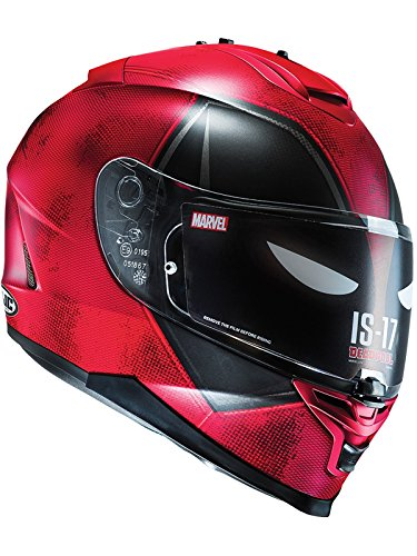 Casco Moto Hjc Marvel Is-17 Deadpool Rojo-Negro (Xs , Rojo)
