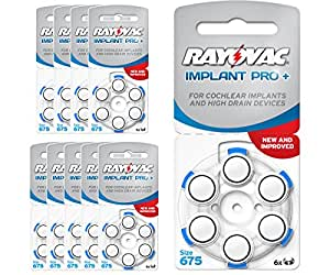60 Piles Auditives Rayovac Implant Pro+ / pile auditive implant cochléaire / AE675