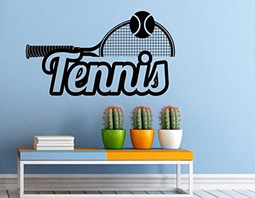 Tennis Racchetta da parete in vinile adesivo parete sport Game Art interni casa decorazioni a (Adesivo Star Shapes)