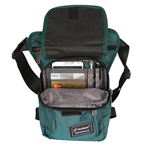 Vanlison waterproof Airsoft Tactical Drop Leg panel sella borsa,, donna, Lake Blue, M Lake Blue