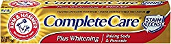 ARM & HAMMER Complete Care Stain Defense Plus Whitening Toothpaste, Fresh Mint 6 oz (Pack of 3)