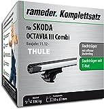 Rameder Komplettsatz, Dachträger SlideBar für Skoda Octavia III Combi (114977-11196-146)
