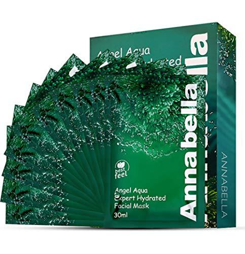 10pcs Algen feuchtigkeitsspendende Hydra-Gel Gesichtsmaske Blatt volle Gesichtsmasken schälen Einweg-Blatt für alle Arten von Skins