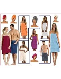 NATURA WALK Damen und Herren Saunakilt, Bio-Baumwolle,NEUHEIT: Schlingenfeste Qualität, kein Fädenziehen mehr (Bordeaux, Damen L - XL)