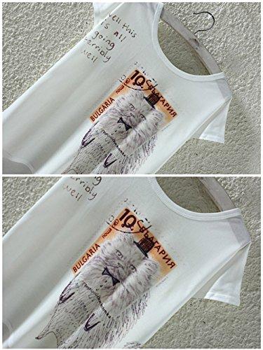 YICHUN Damen T-Shirt Chat 7#