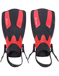 demiawaking 2pcs Largo velocidad ajustable aletas palmeadas de aleta de buceo buceo, snorkeling, natación y deportes acuáticos