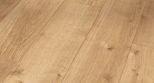 PARADOR Vinylboden Modular One - Eiche Pure natur 1730766 - Designboden Landhausdiele Holzstruktur mit integrierter Kork-Trittschalldämmung und Klick-Verbindung - Paket a 2,493m²