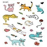 adgkitb 5 stücke Cartoon Tattoo Aufkleber Für Kinder Kaktus Gefälschte Tatoo Kinder Buchstaben Zahlen Tatuajes Nettes Monster EC-621 12x7,5 cm