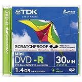 TDK DVD-R 1.4GB, 2X, 8cm