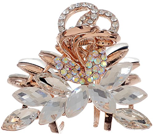 manufacturer2 Vintage Bijoux Pierre Clips Bow Surface de coupe Pince à cheveux pour femmes