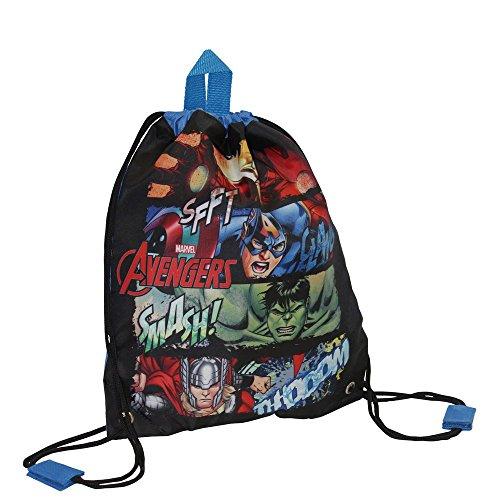 Marvel Avengers Mochila Infantil, 1.5 Litros, Color Negro