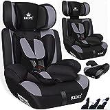 Kidiz Autokindersitz Kinderautositz Sportsline  Gruppe 1+2+3  9-36 kg  Autositz  Kindersitz | Stabil und Sicher | | Farbe: Grau