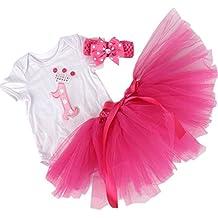 BabyPeg® Bebé Niña 3pcs traje de pijama para Primer Cumpleaños con tutú Diadema