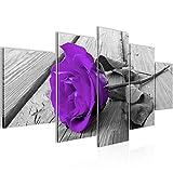 Bild 200 x 100 cm - Rose Bilder- Vlies Leinwand - Deko für Wohnzimmer -Wandbild - XXL 5 Teilig Teile - leichtes Aufhängen- 800651b