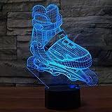 Lixiaoyuzz 3D Lámparas De Mesa Led 3D Patinaje Sobre Ruedas Modelado Luz Nocturna 7 Colores Cambian Agresivo En Línea Lámpara De Escritorio Niño Dormitorio Decoración De Luces De Noche