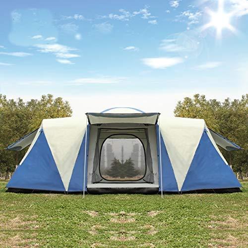 GFF CHYYZP Zelt Ultralarge 8-12 Personen Doppelschicht wasserdichtes Starkes Campingzelt Familienzelt Campingzelt