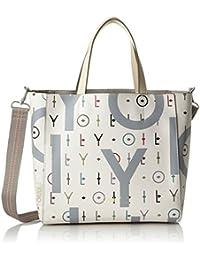 Oilily - Jolly Letters Handbag Mhz, Bolso Mujer, Blanco (Offwhite), 13x25x36 cm (B x H T)